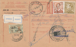 518/23 - BRASSERIE BELGIQUE - Carte Récépissé IMPAYEE - Brasserie Tivoli à ANVERS 1959 Vers PUTTE Kapellen - Bières