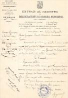 55Nj 4  Lot De 2 Courriers Deliberation Conseil Municipal De Peyruis Par Forcalquier Reponse Du Prefet De Digne - Manuscripts