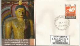 SRI LANKA. Buddhist Publication Society (ONG-NGO), Belle Lettre FDC Adressée En Indonésie - Buddhism