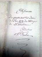 1778 Village De La Wastinne (Perwez - Malèves-Sainte-Marie) Brabant Wallon - Old Paper