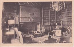 CPA Josselin - Intérieur Du Château - La Bibliothéque (14823) - Josselin