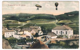 D5149     EISERSDORF / ZELAZNO : In 10 Jahren ( Luftballon, Zeppelin ) - Schlesien