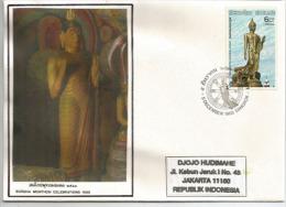 THAÏLANDE. Holiday Celebrate's Buddha's Birth At Buddhamonthon In Thailand, Sur Lettre FDC Adressée En Indonésie - Buddhism