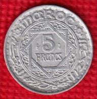 1 PIECE MAROC EMPIRE CHERIFIEN MAROCCO AN 1370 - 5 FRANCS (N°48) - Marruecos
