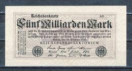 Deutschland Reichsbanknote Rosenberg Nr. 120 D 5 Milliarden Mark FZ AO 20.10.1923 Erhaltung I - [ 3] 1918-1933 : Weimar Republic