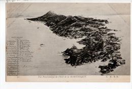 MARTINIQUE . VUE PANORAMIQUE DE L´ÎLE DE LA MARTINIQUE - Réf. N°9095 - - Martinique