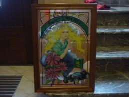 Tabac - Ancien cadre miroir cigarette St Michel