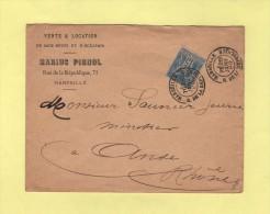 Marseille - R. De La Republique - 28 Janv 1889 - Vente De Sacs - 1877-1920: Semi Modern Period