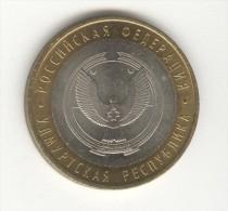 10 Roubles / Rubles Russie / Russia Bi-métallique / Bimetalic 2008 Oudmourtie - Russia