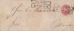 Preussen Brief EF Minr.16 R3 Kempen Reg. Bez. Posen 31.8.67 - Preussen