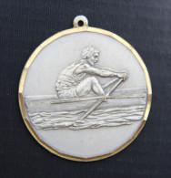 Médaille Métal Blanc - Aviron - Aviron