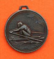 Médaille Métal Couleur Bronze - Aviron - Aviron