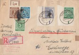 Gemeina. R-Brief Mit Rückschein Mif Minr.913 OR,915,924,936 UER, 958 UER Cottbus 29.4.47 - Gemeinschaftsausgaben