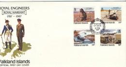 Falklandinseln  Mi.Nr.  460 - 463      FDC - Falklandinseln