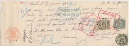 521/23 - BRASSERIE BELGIQUE - Reçu 1901 Signé Par Le Brasseur Léopold Baeten à OVERMEIRE - TP Fine Barbe PERFORES B.F. - Bières