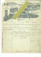 59 - Nord - CAMBRAI - Facture DUROYON & RAMETTE - Manufacture De Chicorée Et De Chocolat – 1908 - REF 183 - Francia