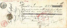 522/23 - BRASSERIE BELGIQUE - Mandat 1911 Pour Le Brasseur Baeten à OVERMEIRE - TP Grosse Barbe PERFORE B.F. - Bières