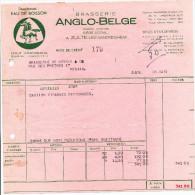 523/23 - BRASSERIE BELGIQUE - 3 Factures Illustrées CHEVAL 1954/55 - Brasserie Anglo-Belge à ZULTE Waereghem - Bières