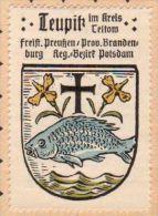 Werbemarke (Reklamemarke, Siegelmarke) Kaffee Hag : Wappen Von Teupitz - Tea & Coffee Manufacturers