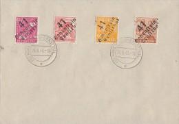 SBZ Brief Mif Minr.174,175,176,177 Hohenstein-Ernstthal 24.6.48 - Gemeinschaftsausgaben