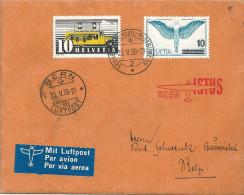 """Sonderstempel  """"Istus, Bern"""" - Belp  (Luftpost)          1938 - Poste Aérienne"""