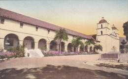 Santa Barbara Mission Built 1786 Santa Barbara California Handcolored Albertype