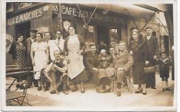 """Devanture De CAFE """"AUX 2 MARCHES"""" - CARTE PHOTO Non Située - Cafés"""