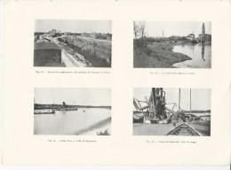 Cava Di Ghiaia A SALGAREDA Treviso + FOSSALTA DI PIAVE + CASIER - Tavola Fotografica Del 1919 - Riproduzioni