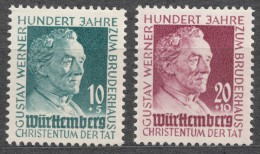 Germany France Occupation 1949 French Zone Wuttemberg Mi#47-48 Mint Never Hinged
