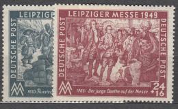 Germany Soviet Zone 1949 Lepziger Messe Mi#240-241 Mint Never Hinged