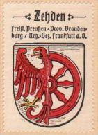 Werbemarke (Reklamemarke, Siegelmarke) Kaffee Hag : Wappen Von Zehden - Tea & Coffee Manufacturers
