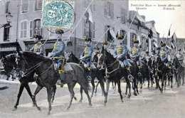 DEUTSCHES HEER - Husaren Karte Gelaufen 1907 - Regimente