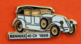 Pin´s - Vieille Voiture Renault - 40cv - 1926 - Badges