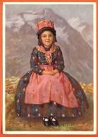EZ-31  Costumes Suisses, Valais, Schweizer Trachten, Wallis. Circulé En 1951, Grand Format. - VS Valais