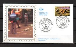 """FRANCE 2003 : Enveloppe 1er Jour En Soie N° YT 3564 """" LA FRANCE A VIVRE 2003 : LA PETANQUE """"  En Parfait état. FDC"""