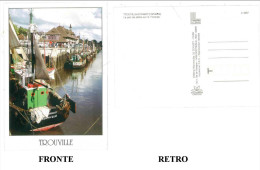 CARTOLINA COLORI FRANCIA – TROUVILLE-SUR-MER (CALVADOS) – LE PORT DE PECHE SUR LA TOUQUES NON VIAGGIATA  CONDIZIONI BUON - Trouville