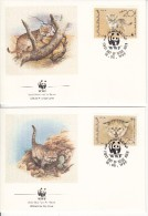 Yemen, PDR FDC Scott #425-#428 Set Of 4 Sand Cat, Fennec Fox - WWF - Yémen