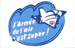 3-AUTOCOLLANT-PUBLICITAIRE-Vers 1970-ARMEE De L AIR-RECRUTEMENT-CORSE-BE - Autocollants