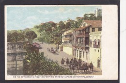 Antique Card, Governor Of Bombay, Walkeshwar Road, Bombay, India, Posted With Stamp,K3. - India