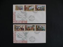 Série De 2 Enveloppes Premier Jour – 30 Avril 1969 – Wallis Et Futuna - FDC
