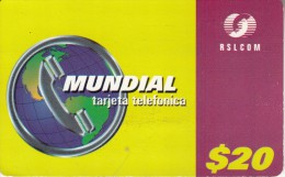 DOMINICANA  - Mundial, RSLcom Prepaid Card $20, Used