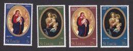 Saint Lucia, Scott #237-240, Mint Never Hinged, Christmas, Issued 1968 - St.Lucia (...-1978)