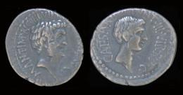 Roman Imperatorial Mark Antony & Octavian AR Denarius - Romaines