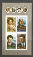 CANADA 2008, # 2280ii. CANADIAN In HOLLYWOOD; SHEARER, DRESSLER, DAN GEORGE, BURR, Pane Of 4 - Pages De Carnets