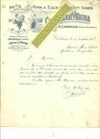 62 - Pas-de-calais - CORBEHEM - Facture CAROUGE - La Coopération Viticole - Vins – 1907 - REF 184 - 1900 – 1949