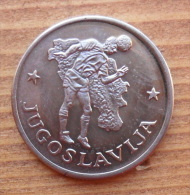 GETTONE COPPA DEL MONDO DI CALCIO 1990 SVOLTOSI IN ITALIA - JUGOSLAVIA IN FIOR DI CONIO - - Gettoni E Medaglie