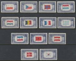 USA 1943 Scott 909-921 Overrun Countries Perf 12 MNH ** - Ungebraucht