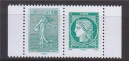 = La Lettre Verte A 3 Ans, Semeuse Lignée Et Cérès à 0.61€ Paire Horizontale Neuve N°4909 Et 4908 - France