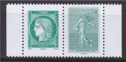 = La Lettre Verte A 3 Ans, Cérès Et Semeuse Lignée Roty à 0.61€ Paire Horizontale Neuve N°4908 Et 4909 - France