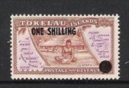 TOKELAU 1956 FREIMARKE Mi 1 VON 1948 MIT NEUEM WERTAUFDRUCK; Mi 5 ** - Tokelau